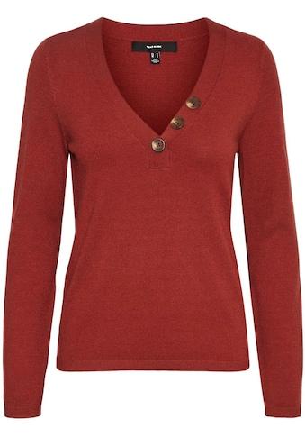 Vero Moda V-Ausschnitt-Pullover »VMKARIS LS V-NECK BUTTON BLOUSE« kaufen
