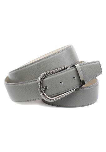 Anthoni Crown Ledergürtel, in grau mit Dornschließe in Diamant-schwarz kaufen