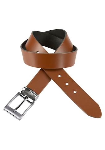 J.Jayz Ledergürtel, mit doppelter Metallschlaufe, Coated Leather, Schließenset... kaufen