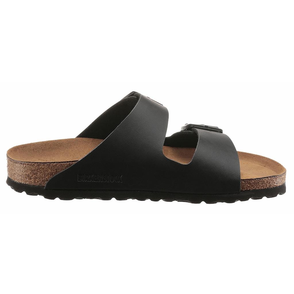 Birkenstock Pantolette »ARIZONA BF«, in Schuhweite schmal, mit ergonomisch geformten Fußbett