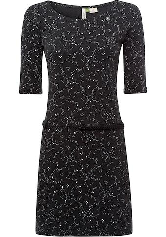 Ragwear Shirtkleid »TAMY B ORGANIC«, (2 tlg., mit abnehmbarem Gürtel), mit minimalistischem Blumen-All Over-Druck kaufen