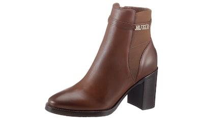 TOMMY HILFIGER High - Heel - Stiefelette »BLOCK BRANDING HIGH HEEL BOOT« kaufen