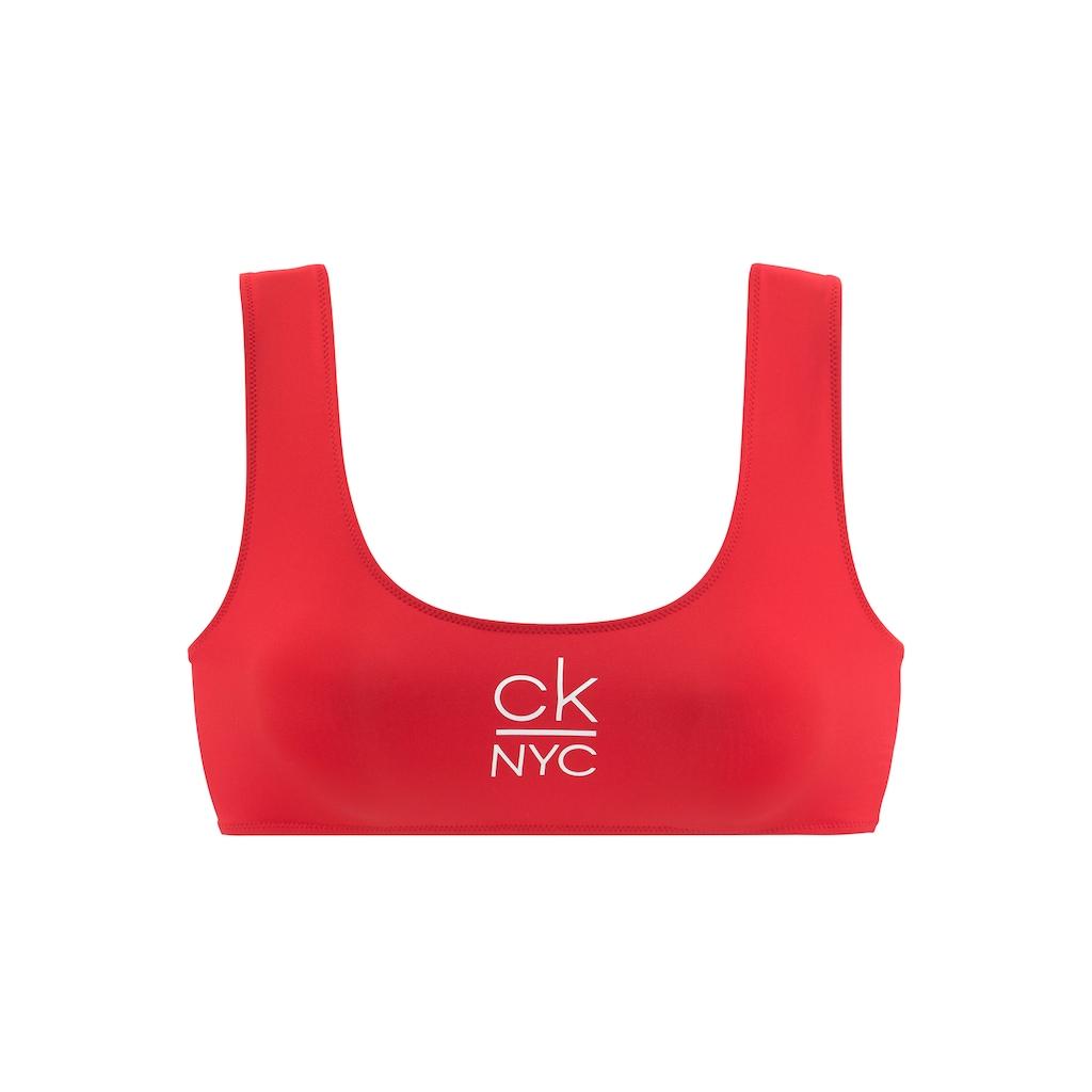 Calvin Klein Bustier-Bikini-Top, mit Calvin Klein Logo