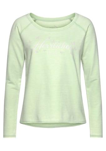 Herrlicher Sweatshirt »FREYJA«, mit Logo-Schmetterlings-Druck kaufen