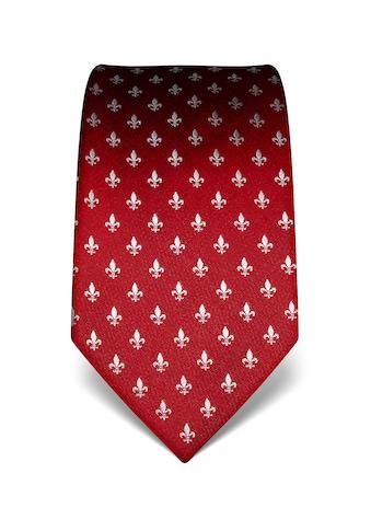 Vincenzo Boretti Krawatte mit Fleur-de-Lis-Muster kaufen