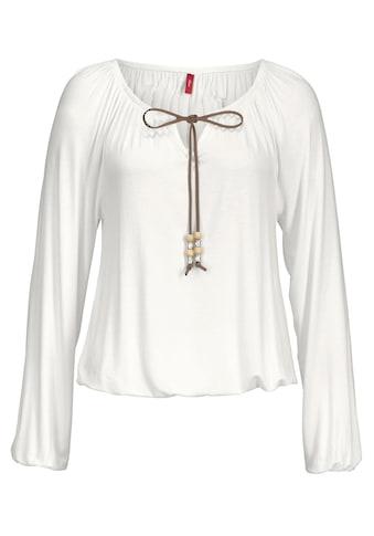 s.Oliver Strandshirt, mit Bindeband am Ausschnitt kaufen