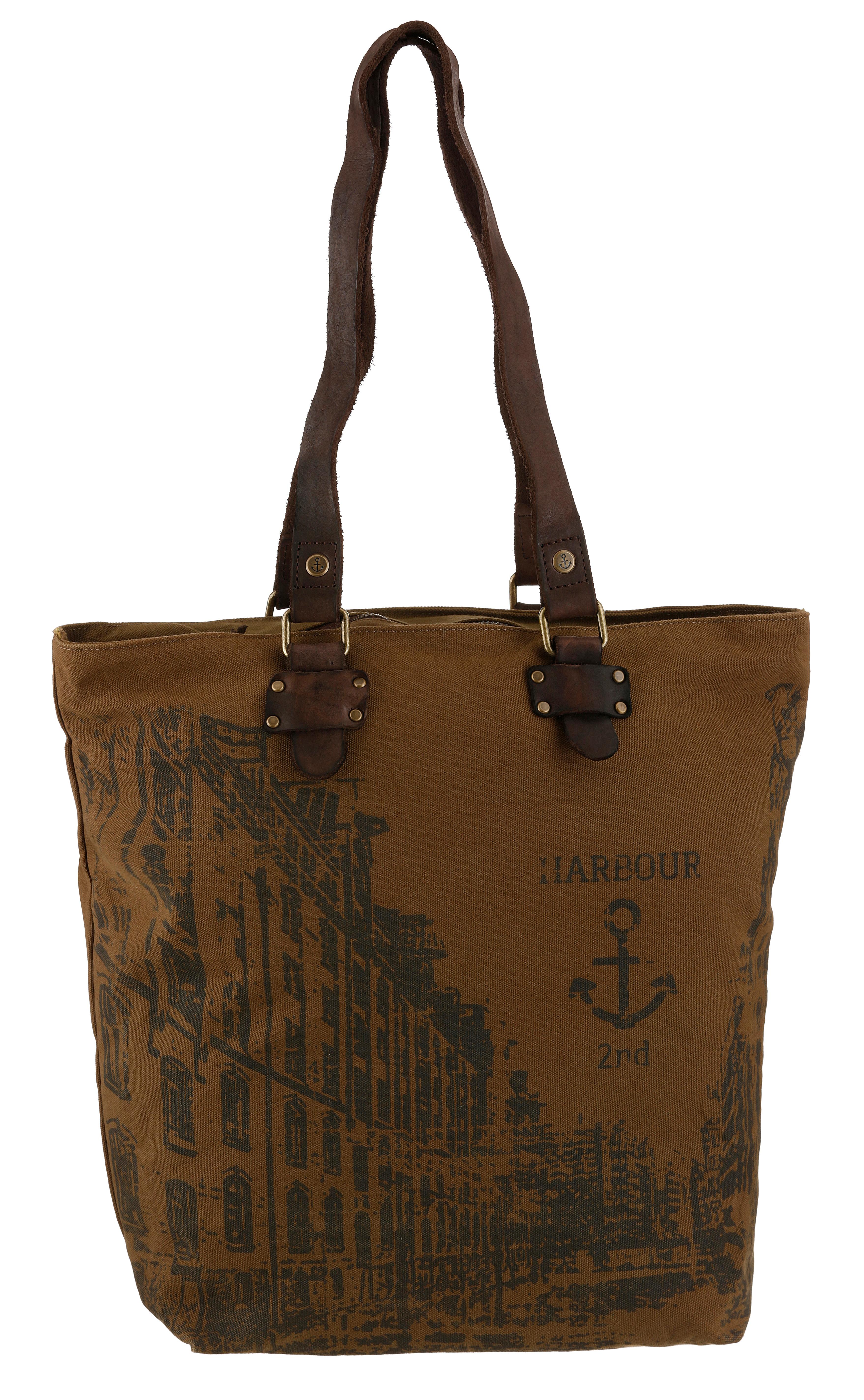 harbour 2nd -  Shopper Pauli, mit Lederhenkel