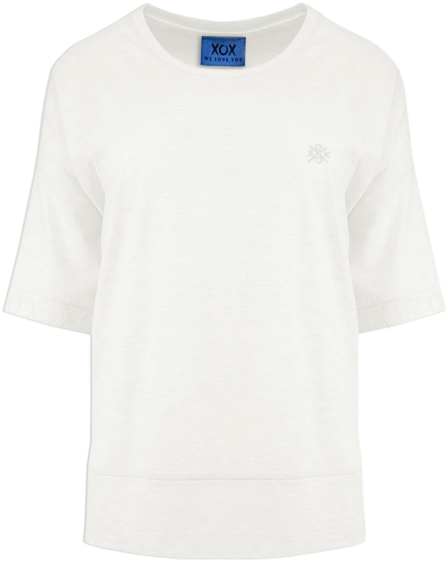 xox -  Oversize-Shirt, lässiges Shirt, 3/4 Ärmel mit Flockprint