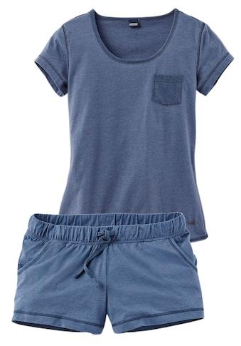 Arizona Shorty, meliert mit Rundhalsausschnitt Brusttasche kaufen