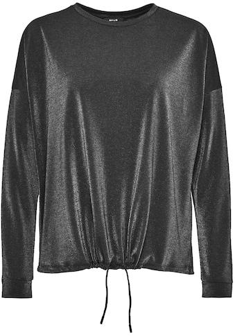OPUS Langarmshirt »Silkina«, mit schimmernder Optik kaufen