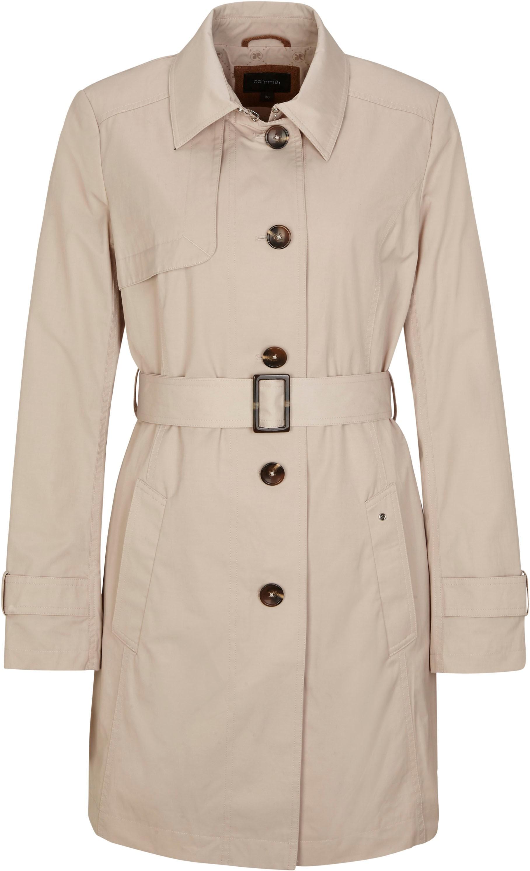 comma -  Trenchcoat, mit elegantem Textilgürtel und Riegel