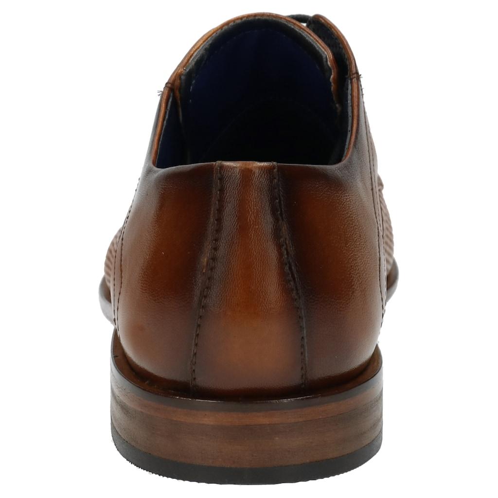 bugatti Schnürschuh »Mansueto«, mit Lederlaufsohle