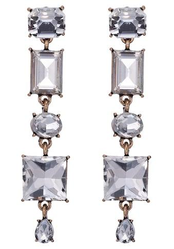 J.Jayz Paar Ohrstecker »glamourös«, mit Glassteinen kaufen