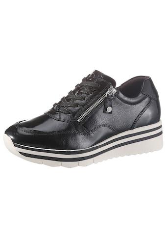 Tamaris Wedgesneaker »Pure Relax«, im glänzenden Look kaufen