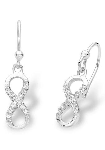 Amor Paar Ohrhaken »Infinity/ Unendlichkeitsschleife, 9228676«, mit Zirkonia kaufen