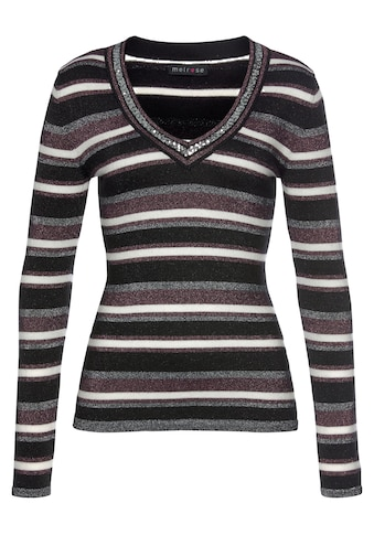 Melrose V-Ausschnitt-Pullover, mit weichem Glitzergarn und Pailletten-Details kaufen