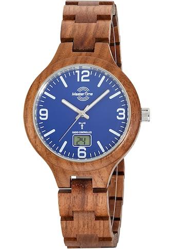 MASTER TIME Funkuhr »Specialist Wood, MTGW-10747-31W« kaufen