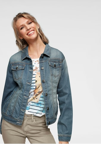 Aniston CASUAL Jeansjacke, in Used-Waschung kaufen