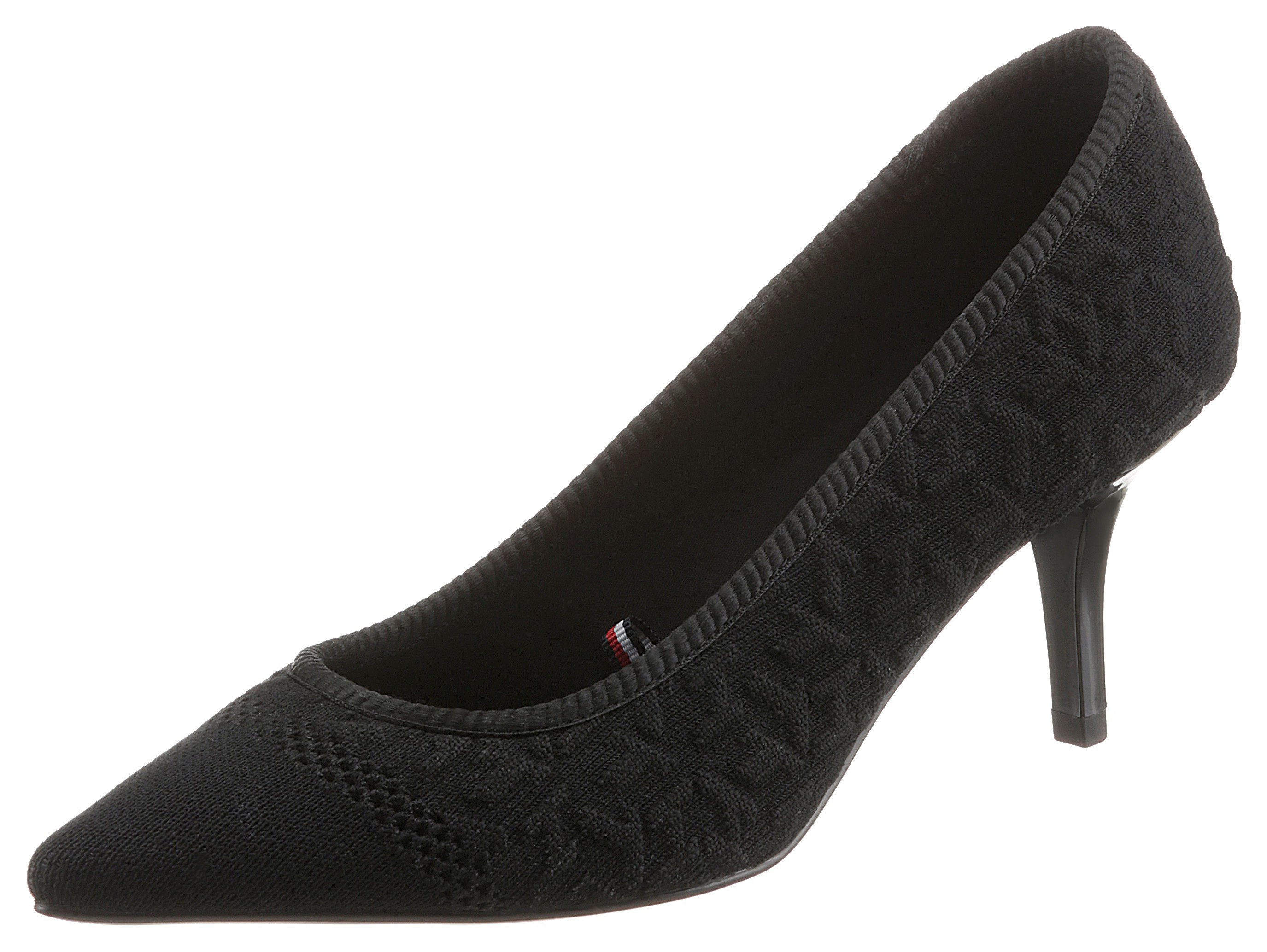 tommy hilfiger -  Pumps TH KNITTED MID HEEL PUMP, in spitzer Form