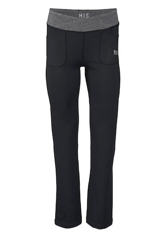 H.I.S Jazzpants »aus nachhaltig recyceltem Material«, Bund mit Wickeloptik kaufen