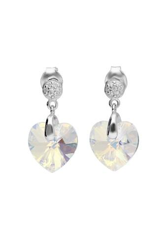 Smart Jewel Paar Ohrstecker »Kristallstein in Herzform, Zirkonia, Silber 925« kaufen
