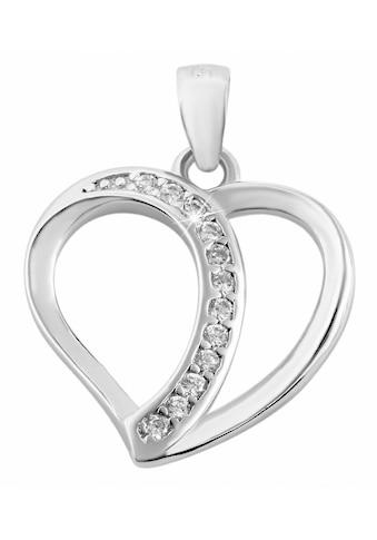 Adelia´s Kettenanhänger »Anhänger Herz aus 925 Silber mit Zirkonia« kaufen