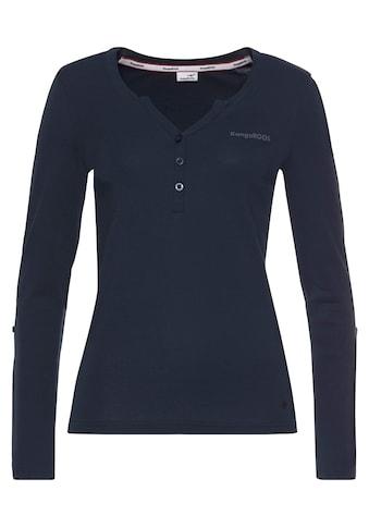 KangaROOS Shirtbluse, mit Turn-up Ärmeln - NEUE KOLLEKTION kaufen