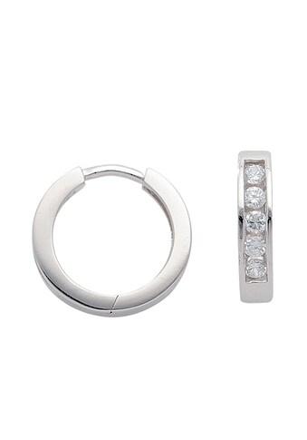 Adelia´s Paar Creolen »925 Silber Ohrringe / Creolen mit Zirkonia Ø 14,1 mm« kaufen