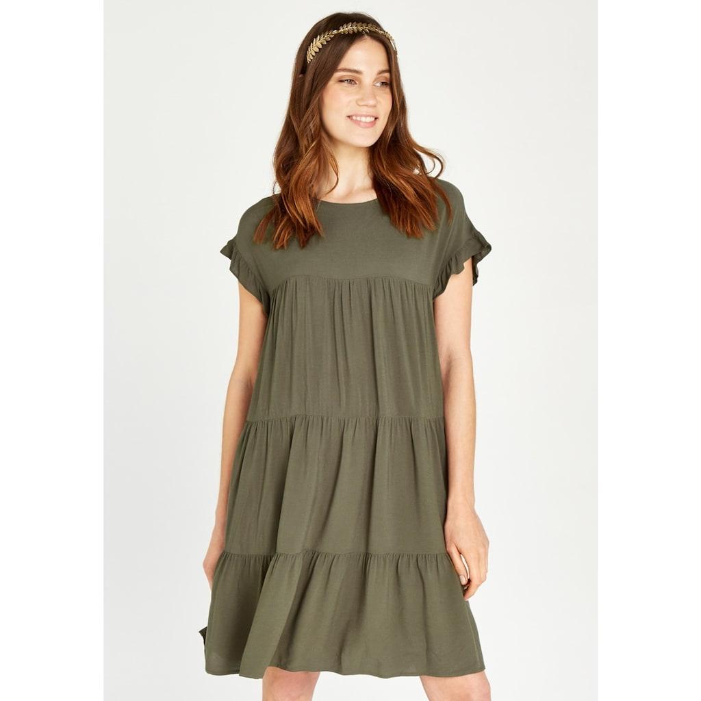 Apricot Sommerkleid »Ruffle Sleeve Detail Tiered Dress«, im Stufen-Look
