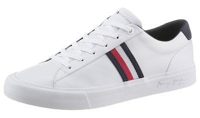 TOMMY HILFIGER Sneaker »CORPORATE LEATHER SNEAKER«, mit seitlichen Streifen kaufen