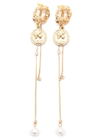 J.Jayz Paar Ohrstecker »mit Münzen, glamourös, vergoldet«, mit Acrylperlen und... kaufen