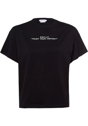 Replay T-Shirt, mit eingenähter Falte hinten kaufen