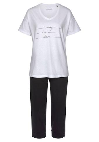 Schiesser Capri-Pyjama, mit Frontdruck kaufen