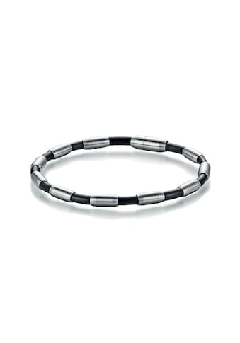 Jacques Charrel Armband »mit schwarzem Kautschuk« kaufen