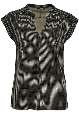 OPUS V-Shirt »Sandi checked«, mit femininer Kräuselung an der Schulter kaufen