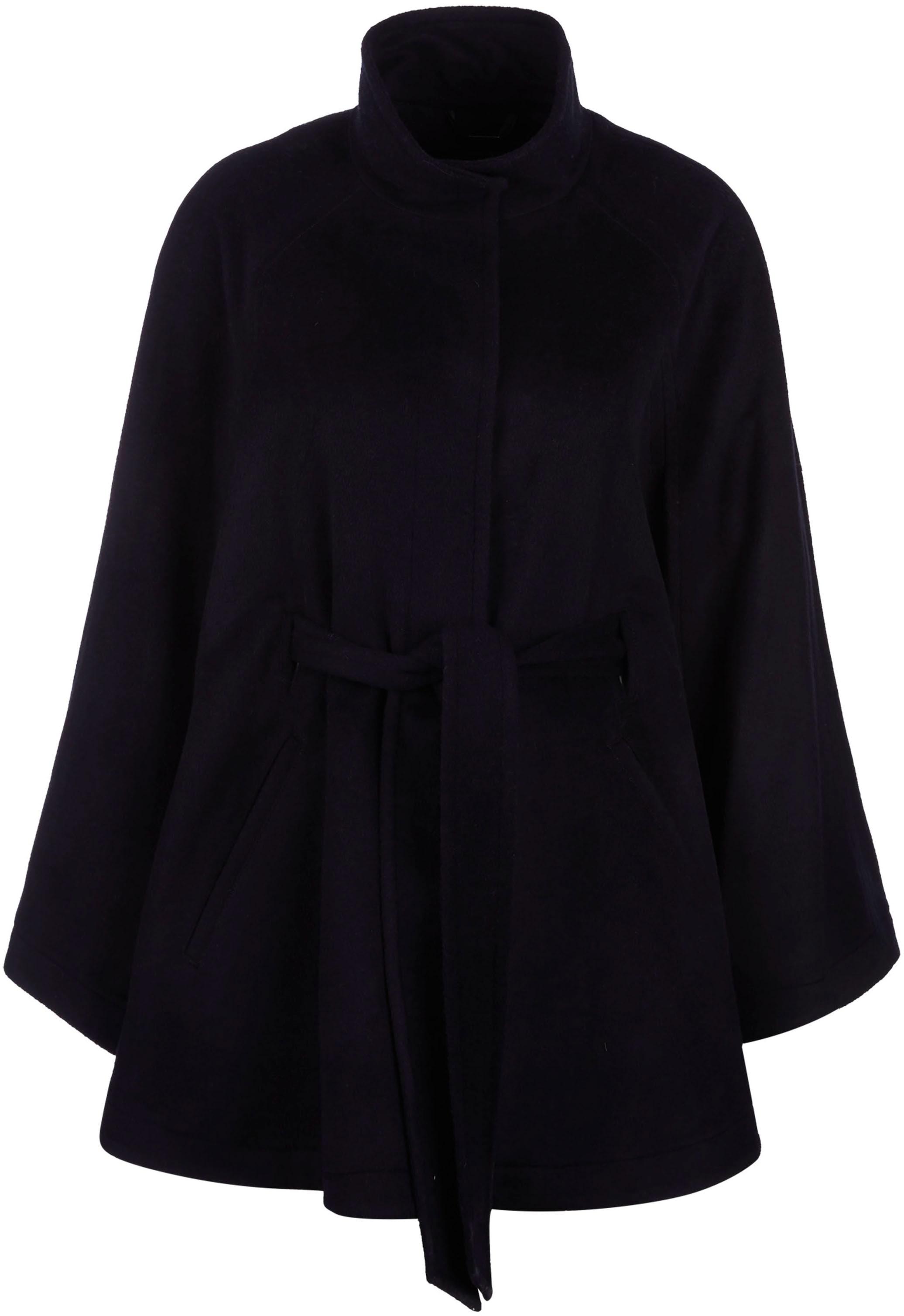 comma -  Kurzmantel, in eleganter Cape-Form, aus softer Woll-Mix-Qualität