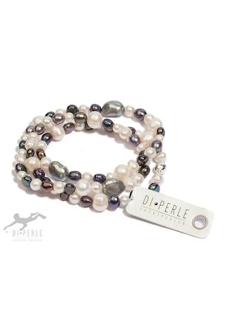 DI PERLE Perlenarmband »925 Silber Süsswasser Perlen Armband (57 cm)«, Damen... kaufen