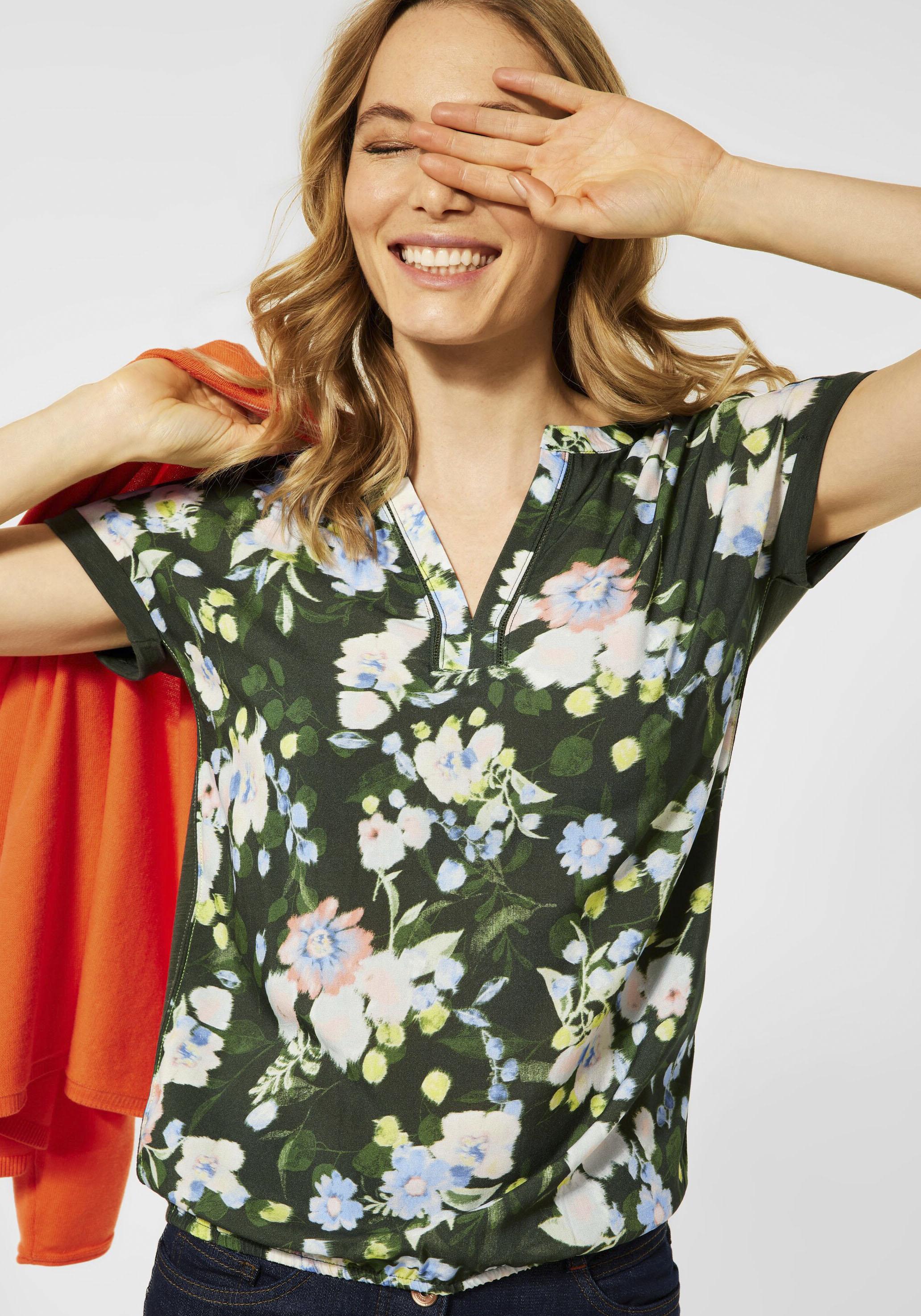 cecil -  T-Shirt, mit floralem Printmuster