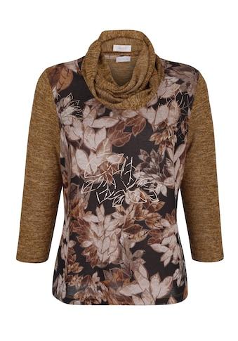 Mona 3/4-Arm-Shirt, mit Schal mit modischem Schal kaufen