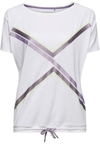 esprit sports T-Shirt, mit Bindeband im Saum kaufen