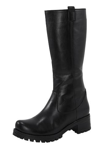Stiefel mit Blockabsatz und dicker Profilsohle kaufen