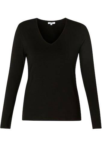 BSIC by Yest Langarmshirt »Yare«, Angesagter V-Ausschnitt in elastischer Qualität kaufen