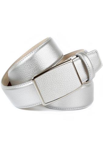 Anthoni Crown Ledergürtel, in Hirschprägung und glänzender Oberfläche kaufen