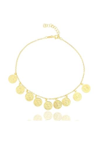 JULES & GENTS Silberkette »#COIN«, Fusskette, 925/- Sterlingsilber gelbvergoldet kaufen