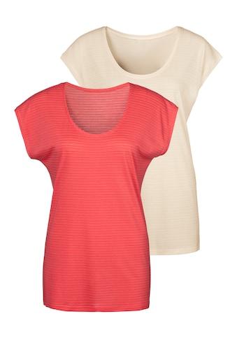 Beachtime T-Shirt, mit feinen Streifen kaufen