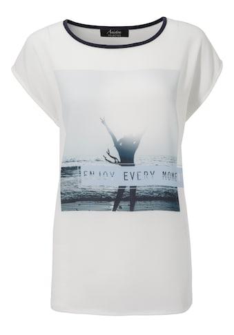 Aniston SELECTED Blusenshirt, im Materialmix kaufen