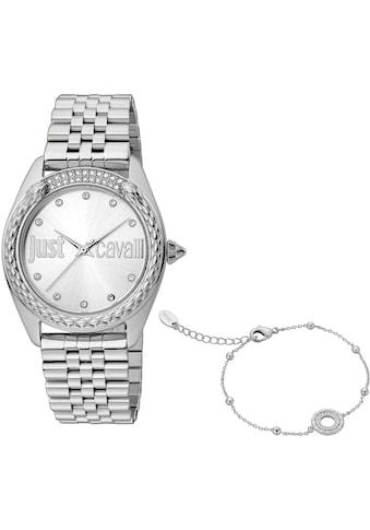 Just Cavalli Time Quarzuhr »Set Brillante, JC1L195M0045«, (Set, 2 tlg., mit Armband) kaufen