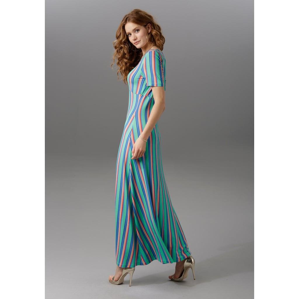 Aniston CASUAL Sommerkleid, mit raffiniertem Dekolleté