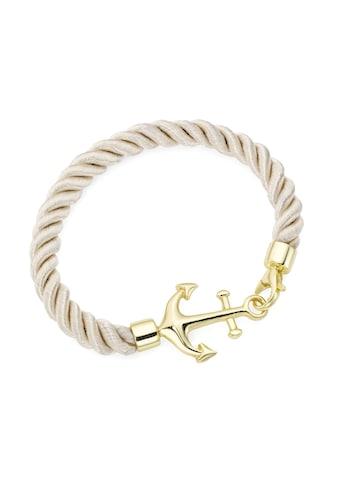 Smart Jewel Armband »Textil, in beige mit Anker« kaufen