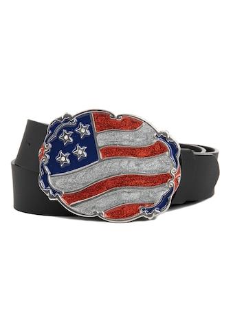 CASSANDRA Ledergürtel »USA«, mit Koppelschließe in Flaggen-Optik kaufen